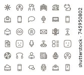 message icon set. collection of ... | Shutterstock .eps vector #745950802