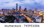 this is hanoi cityscape  | Shutterstock . vector #745951006