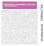 shopping and commerce icon set... | Shutterstock .eps vector #745961725