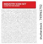 industry icon set vector | Shutterstock .eps vector #745961752