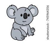 cartoon koala | Shutterstock .eps vector #745964356