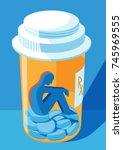 opioid and prescription drug... | Shutterstock .eps vector #745969555