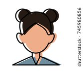 woman faceless avatar | Shutterstock .eps vector #745980856