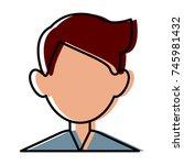 man faceless avatar | Shutterstock .eps vector #745981432