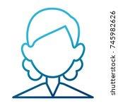 woman faceless avatar | Shutterstock .eps vector #745982626