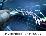 stock market graph analysis for ... | Shutterstock . vector #745983778