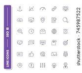 line icons set. seo pack....