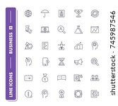 line icons set. business 2 pack.... | Shutterstock .eps vector #745987546