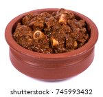 spicy and delicious mutton... | Shutterstock . vector #745993432