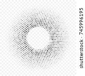 Halftone Dotted Circular...