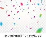 confetti background vector... | Shutterstock .eps vector #745996792