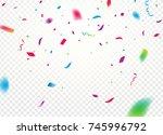 confetti background vector... | Shutterstock .eps vector #745996792