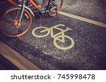 bicycle parking | Shutterstock . vector #745998478