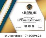 certificate template luxury and ... | Shutterstock .eps vector #746009626
