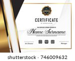 certificate template luxury and ... | Shutterstock .eps vector #746009632