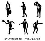 vector illustration of six... | Shutterstock .eps vector #746012785