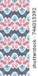 asian  tissue  textile  cloth ... | Shutterstock . vector #746015392