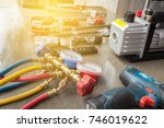 manometers measuring equipment... | Shutterstock . vector #746019622