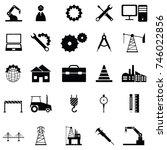engineering icon set | Shutterstock .eps vector #746022856