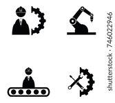 engineering icon set | Shutterstock .eps vector #746022946