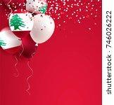 22 november. lebanon... | Shutterstock .eps vector #746026222