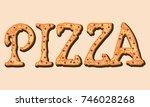 pizza word | Shutterstock .eps vector #746028268
