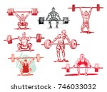vector silhouette of... | Shutterstock .eps vector #746033032