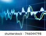 stock exchange market graph... | Shutterstock . vector #746044798
