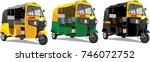 most popular transport in india ... | Shutterstock .eps vector #746072752