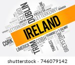 list of cities in ireland word... | Shutterstock .eps vector #746079142