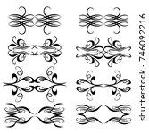 set of vector graphic elements ... | Shutterstock .eps vector #746092216