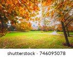 autumn color of regents park in ...   Shutterstock . vector #746095078