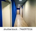 office corridor in a building... | Shutterstock . vector #746097016