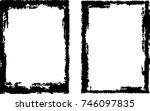 vector frames. rectangles for...   Shutterstock .eps vector #746097835