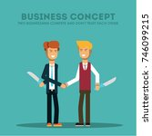 business concept. two... | Shutterstock .eps vector #746099215