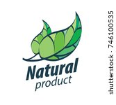 natural product logo | Shutterstock .eps vector #746100535