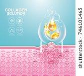 collagen solution serum drop...   Shutterstock .eps vector #746101465