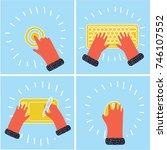 vector cartoon funny... | Shutterstock .eps vector #746107552