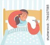 vector cartoon illustration of... | Shutterstock .eps vector #746107585