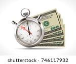 one hundred dollars   united... | Shutterstock .eps vector #746117932