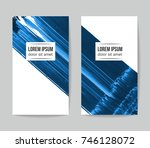 set of vector business card... | Shutterstock .eps vector #746128072