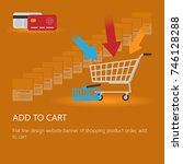 shopping cart icon vector with... | Shutterstock .eps vector #746128288