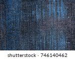 old grunge blue and gray... | Shutterstock . vector #746140462