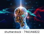 virtual human 3dillustration on ... | Shutterstock . vector #746146822