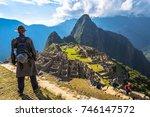 machu picchu  peru   august 03  ... | Shutterstock . vector #746147572