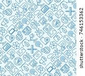 digital marketing seamless...   Shutterstock .eps vector #746153362