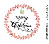 vector christmas greeting card... | Shutterstock .eps vector #746153872