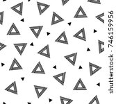 striped triangle geometric... | Shutterstock .eps vector #746159956