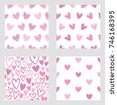 collection  set of valentines...   Shutterstock .eps vector #746168395