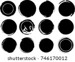 grunge post stamps collection ... | Shutterstock .eps vector #746170012